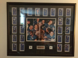 Two large Toronto Maple Leaf pictures.