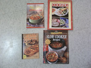 4 books; including slow cooker recipe books