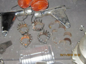 1980 Honda 750/900 Parts - Exhaust Flanges, Headlight stays