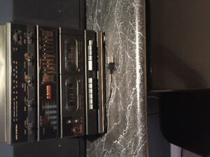 Music Center. Stereo Radio, Twin Cassette,Record Player $75