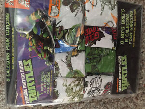 New! TMNT boys briefs pack of 8 size 2-3
