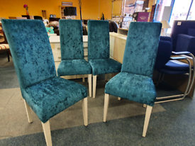 Velour dining chairs set of 4 £45