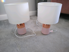 Two side lamps £12 for both