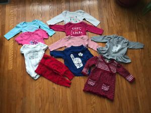 Preloved 6-12 month baby girl clothing lot
