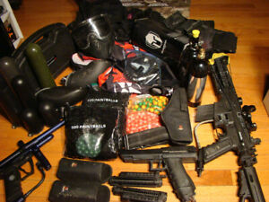 BIg PaintBall Gear Lot Pain Ball Markers Clothing Accessoriees
