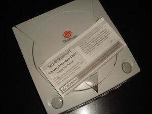 SEGA DREAMCAST-VMU MEMORY CARD-MANUAL ONLY (COMPLETE YOUR GAME)