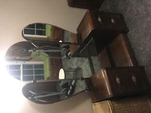 Antique vanity with seat