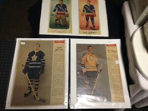 3 VINTAGE 1966-1967 NHL PLAYER PHOTOS WEEKEND MAGAZINE