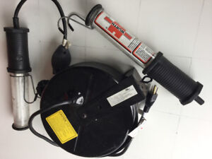 Wurth shop lamp & reel with spare lamp ONLY $100