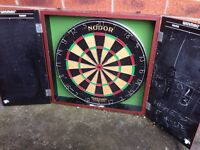 Dart board with case