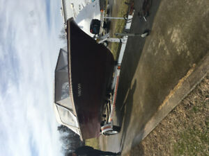 17' Leavens Boat/Trailer For Sale with 90 HP Johnson Motor