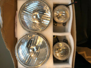 Jeep jk LED headlights and fog lights