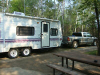 22 ft Forest River Wildwood travel trailer