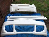 Corsa c combat body kit with parts