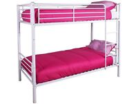 BUNK BED metal,, IN WHITE