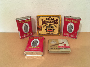 Set of Vintage Cigarette and Cigar tins