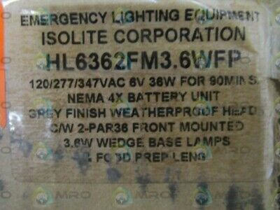 Isolite Emergency Lighting Equipment Hl6362fm3.6wfp New In Box