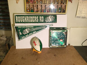 Sask.Roughrider Fan CFL Collectible Package +Pilsner F.B reduced