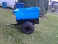 trailer to tow behind atv or lawn tractor