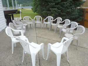 Lawn Chairs 13..low back - 10 in grey and 3 in white