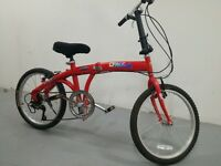 "Folding Bike foldable bicycle new 20"" wheels 6 speed - New -"