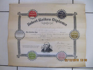 Vintage Robert Raikes Diploma Roll Of HonourMethodistChurch 1910