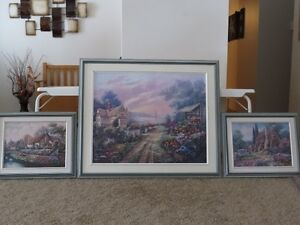 3 Piece Framed Art purchased from Art Gallery Strathcona County Edmonton Area image 1