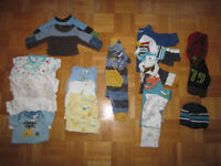 Large lot of boys clothes, NB-18M, more than 200 pieces