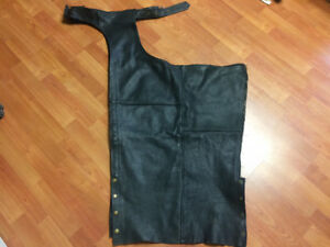 Unisex motorcycle leather chaps
