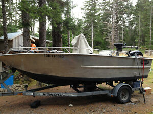 18 Ft Welded Aluminum Fishing Boat for Sale