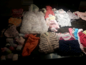 Girls NB and 0-3 mth lot