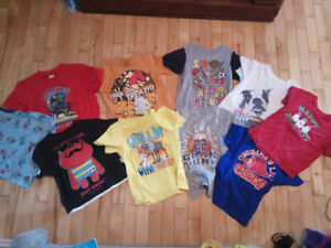 10 pieces of boys summer t-shirts- size 4
