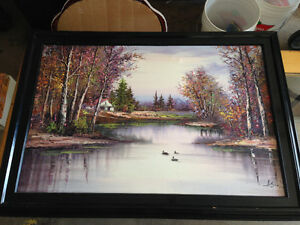 Very nice oil painting on canvas signed