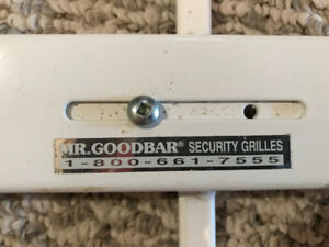 Two Mr. Goodbar 29-42in x 12-in White  Window Security Bar