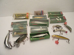 17 LURES -OLD - RAPALA