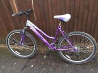 LADIES PURPLE BIKE FLAT TYRES ** FREE DELIVERY AVAILABLE TONIGHT **