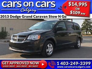 2013 Dodge Grand Caravan SE Stow N Go w/$109 B/W INSTANT APPROVA