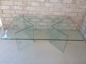 Large Bevelled glass top and base coffee table London Ontario image 5