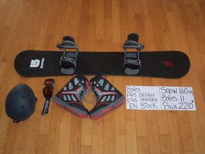 160 cm Planche à neige snowboard BURTON NOIR