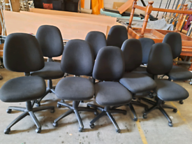 Office operator task chairs - black - 18 available