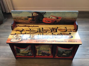 Cars bench with storage.