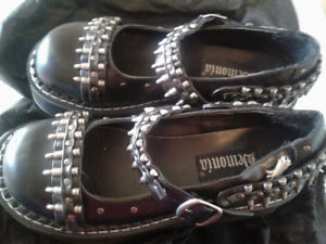 Ladies Size 7 Demonia Bullet MaryJanes