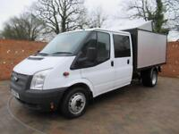 FORD TRANSIT 350 DOUBLE CAB ONE WAY TIPPER LWB 125 BHP NEW CHIPPER BOX