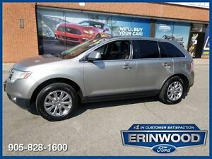 """2008 Ford Edge LimitedAWD / PANO ROOF / LTHR / 18"""" CHRM WHLS"""