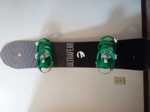 Board, bindings, boots, pants, goggles, gaiters