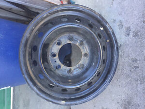 "17"" EUC steel rims 8 bolt"