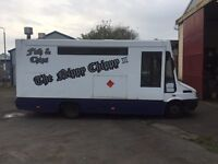 Fish and chip van catering van with run. (Well established business )