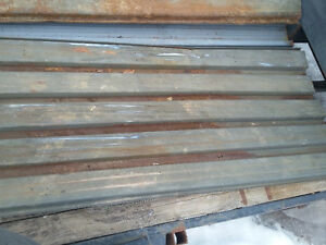 used heavy gauge metal roofing or siding in various lenghts