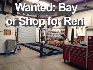 Part-Time Mechanics Looking to Rent Bay or Shop