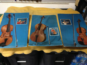 10 VINTAGE 1961 MUSICAL INSTRUMENT PICTURES / INFORMATION SHEETS
